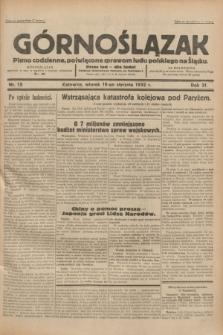 Górnoślązak : pismo codzienne, poświęcone sprawom ludu polskiego na Śląsku.R.31, nr 15 (19 stycznia 1932)