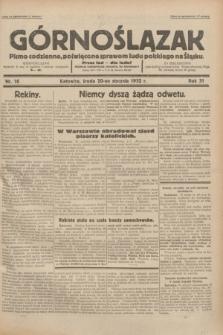 Górnoślązak : pismo codzienne, poświęcone sprawom ludu polskiego na Śląsku.R.31, nr 16 (20 stycznia 1932)