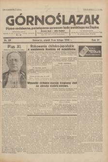 Górnoślązak : pismo codzienne, poświęcone sprawom ludu polskiego na Śląsku.R.31, nr 29 (5 lutego 1932)
