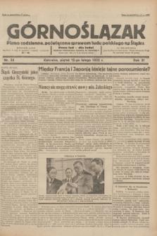 Górnoślązak : pismo codzienne, poświęcone sprawom ludu polskiego na Śląsku.R.31, nr 35 (12 lutego 1932)