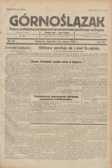 Górnoślązak : pismo codzienne, poświęcone sprawom ludu polskiego na Śląsku.R.31, nr 52 (3 marca 1932)