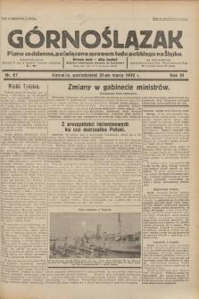 Górnoślązak : pismo codzienne, poświęcone sprawom ludu polskiego na Śląsku.R.31, nr 67 (21 marca 1932)