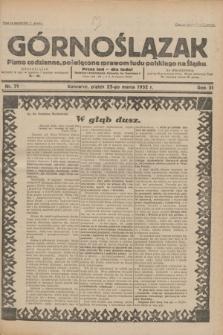 Górnoślązak : pismo codzienne, poświęcone sprawom ludu polskiego na Śląsku.R.31, nr 71 (25 marca 1932)