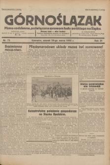 Górnoślązak : pismo codzienne, poświęcone sprawom ludu polskiego na Śląsku.R.31, nr 73 (29 marca 1932)