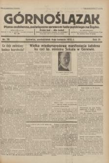 Górnoślązak : pismo codzienne, poświęcone sprawom ludu polskiego na Śląsku.R.31, nr 78 (4 kwietnia 1932)