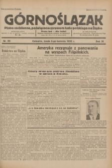 Górnoślązak : pismo codzienne, poświęcone sprawom ludu polskiego na Śląsku.R.31, nr 80 (6 kwietnia 1932)