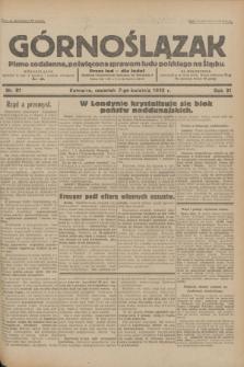 Górnoślązak : pismo codzienne, poświęcone sprawom ludu polskiego na Śląsku.R.31, nr 81 (7 kwietnia 1932)