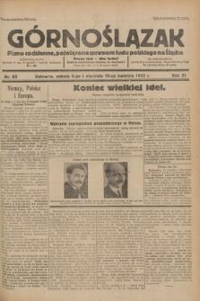 Górnoślązak : pismo codzienne, poświęcone sprawom ludu polskiego na Śląsku.R.31, nr 83 (9 i 10 kwietnia 1932)