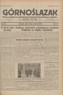 Górnoślązak : pismo codzienne, poświęcone sprawom ludu polskiego na Śląsku.R.31, nr 88 (15 kwietnia 1932)