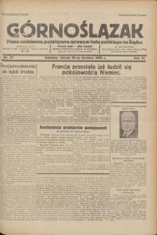 Górnoślązak : pismo codzienne, poświęcone sprawom ludu polskiego na Śląsku.R.31, nr 97 (26 kwietnia 1932)