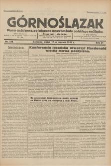 Górnoślązak : pismo codzienne, poświęcone sprawom ludu polskiego na Śląsku.R.31, nr 138 (17 czerwca 1932)