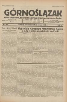 Górnoślązak : pismo codzienne, poświęcone sprawom ludu polskiego na Śląsku.R.31, nr 140 (20 czerwca 1932)