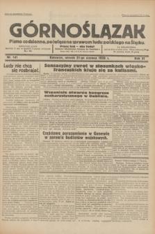 Górnoślązak : pismo codzienne, poświęcone sprawom ludu polskiego na Śląsku.R.31, nr 141 (21 czerwca 1932)