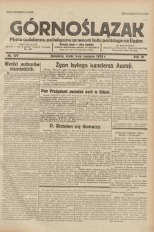 Górnoślązak : pismo codzienne, poświęcone sprawom ludu polskiego na Śląsku.R.31, nr 177 (3 sierpnia 1932)