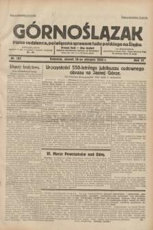 Górnoślązak : pismo codzienne, poświęcone sprawom ludu polskiego na Śląsku.R.31, nr 187 (16 sierpnia 1932)