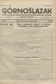 Górnoślązak : pismo codzienne, poświęcone sprawom ludu polskiego na Śląsku.R.31, nr 205 (6 września 1932)