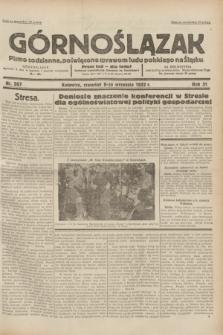 Górnoślązak : pismo codzienne, poświęcone sprawom ludu polskiego na Śląsku.R.31, nr 207 (8 września 1932)