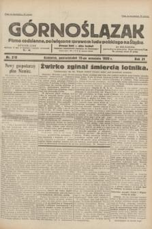 Górnoślązak : pismo codzienne, poświęcone sprawom ludu polskiego na Śląsku.R.31, nr 210 (12 września 1932)