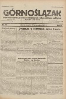 Górnoślązak : pismo codzienne, poświęcone sprawom ludu polskiego na Śląsku.R.31, nr 213 (15 września 1932)