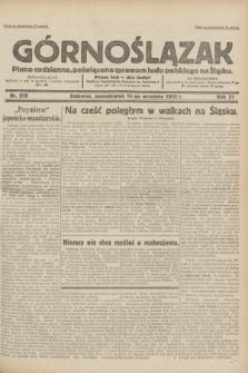 Górnoślązak : pismo codzienne, poświęcone sprawom ludu polskiego na Śląsku.R.31, nr 216 (19 września 1932)