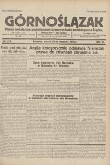 Górnoślązak : pismo codzienne, poświęcone sprawom ludu polskiego na Śląsku.R.31, nr 217 (20 września 1932)