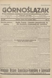 Górnoślązak : pismo codzienne, poświęcone sprawom ludu polskiego na Śląsku.R.31, nr 220 (23 września 1932)