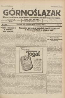 Górnoślązak : pismo codzienne, poświęcone sprawom ludu polskiego na Śląsku.R.31, nr 222 (26 września 1932)