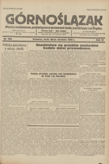 Górnoślązak : pismo codzienne, poświęcone sprawom ludu polskiego na Śląsku.R.31, nr 224 (28 września 1932)