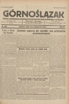 Górnoślązak : pismo codzienne, poświęcone sprawom ludu polskiego na Śląsku.R.31, nr 230 (5 października 1932)