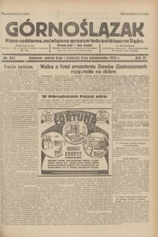 Górnoślązak : pismo codzienne, poświęcone sprawom ludu polskiego na Śląsku.R.31, nr 233 (8 i 9 października 1932)