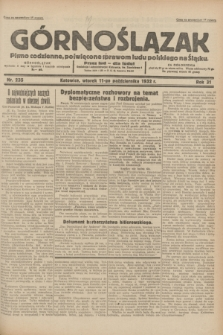 Górnoślązak : pismo codzienne, poświęcone sprawom ludu polskiego na Śląsku.R.31, nr 235 (11 października 1932)