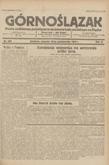 Górnoślązak : pismo codzienne, poświęcone sprawom ludu polskiego na Śląsku.R.31, nr 237 (13 października 1932)