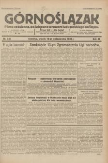 Górnoślązak : pismo codzienne, poświęcone sprawom ludu polskiego na Śląsku.R.31, nr 241 (18 października 1932)