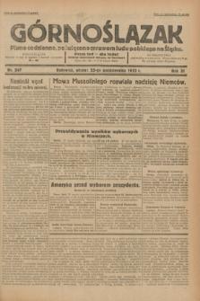 Górnoślązak : pismo codzienne, poświęcone sprawom ludu polskiego na Śląsku.R.31, nr 247 (25 października 1932)