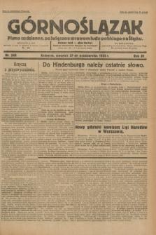 Górnoślązak : pismo codzienne, poświęcone sprawom ludu polskiego na Śląsku.R.31, nr 249 (27 października 1932)