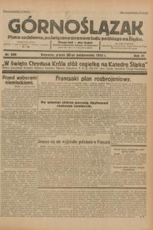 Górnoślązak : pismo codzienne, poświęcone sprawom ludu polskiego na Śląsku.R.31, nr 250 (28 października 1932)