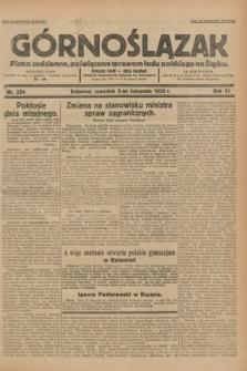 Górnoślązak : pismo codzienne, poświęcone sprawom ludu polskiego na Śląsku.R.31, nr 254 (3 listopada 1932)