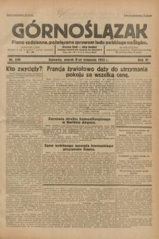 Górnoślązak : pismo codzienne, poświęcone sprawom ludu polskiego na Śląsku.R.31, nr 259 (8 listopada 1932)