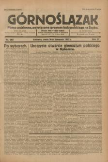 Górnoślązak : pismo codzienne, poświęcone sprawom ludu polskiego na Śląsku.R.31, nr 260 (9 listopada 1932)