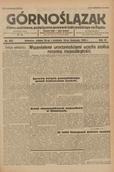 Górnoślązak : pismo codzienne, poświęcone sprawom ludu polskiego na Śląsku.R.31, nr 263 (12 i 13 listopada 1932)
