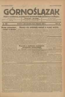 Górnoślązak : pismo codzienne, poświęcone sprawom ludu polskiego na Śląsku.R.31, nr 265 (14 listopada 1932)