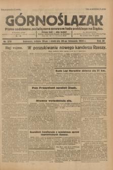 Górnoślązak : pismo codzienne, poświęcone sprawom ludu polskiego na Śląsku.R.31, nr 270 (19 i 20 listopada 1932)
