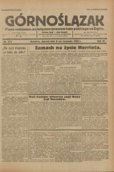 Górnoślązak : pismo codzienne, poświęcone sprawom ludu polskiego na Śląsku.R.31, nr 272 (21 listopada 1932)