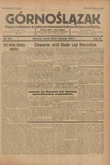 Górnoślązak : pismo codzienne, poświęcone sprawom ludu polskiego na Śląsku.R.31, nr 273 (22 listopada 1932)