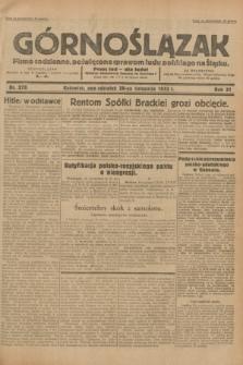 Górnoślązak : pismo codzienne, poświęcone sprawom ludu polskiego na Śląsku.R.31, nr 278 (28 listopada 1932)