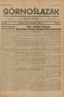 Górnoślązak : pismo codzienne, poświęcone sprawom ludu polskiego na Śląsku.R.31, nr 282 (2 grudnia 1932)