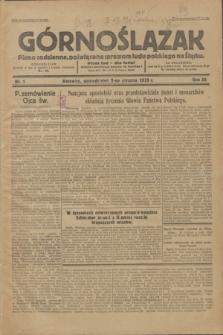 Górnoślązak : Pismo codzienne, poświęcone sprawom ludu polskiego na Śląsku.R.32, nr 1 (2 stycznia 1933)