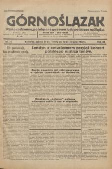 Górnoślązak : Pismo codzienne, poświęcone sprawom ludu polskiego na Śląsku.R.32, nr 11 (14 stycznia 1933)