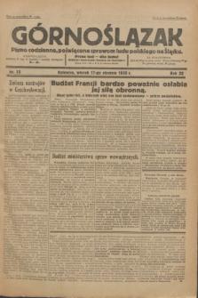 Górnoślązak : Pismo codzienne, poświęcone sprawom ludu polskiego na Śląsku.R.32, nr 13 (17 stycznia 1933)