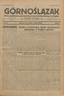 Górnoślązak : Pismo codzienne, poświęcone sprawom ludu polskiego na Śląsku.R.32, nr 16 (20 stycznia 1933)